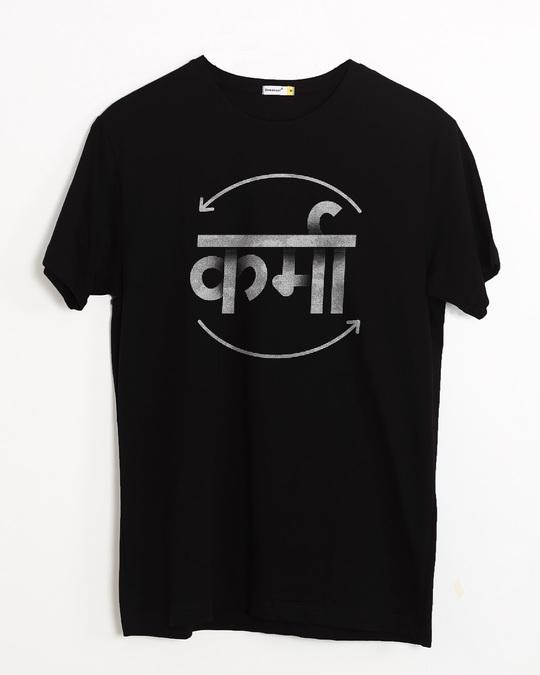 Shop Hindi Karma Half Sleeve T-Shirt-Front