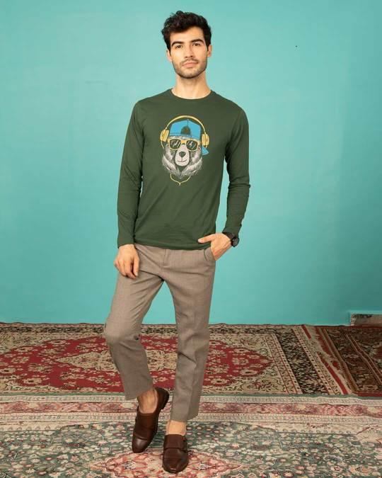 Shop Hip Hop Bear Full Sleeve T-Shirt-Full