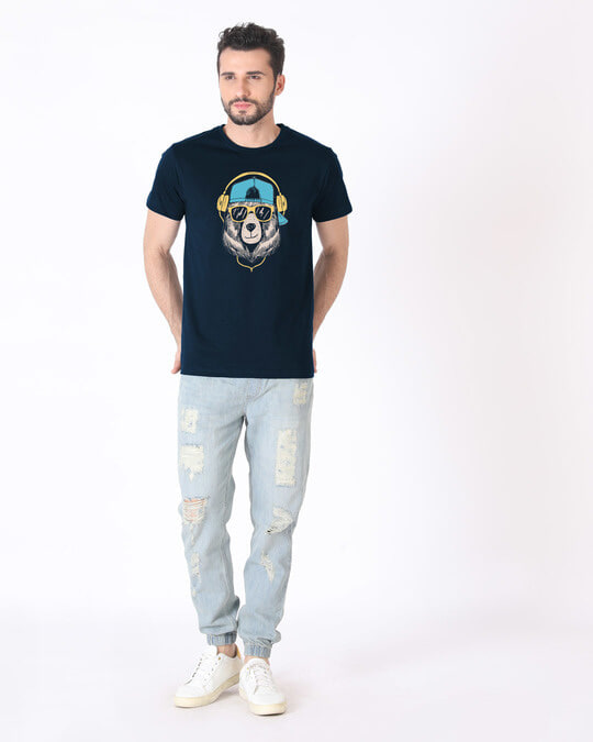 Shop Hip Hop Bear Half Sleeve T-Shirt