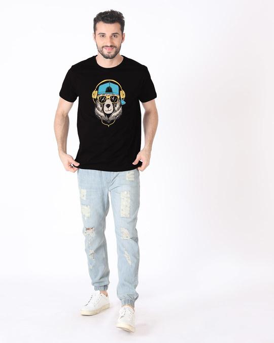Shop Hip Hop Bear Half Sleeve T-Shirt