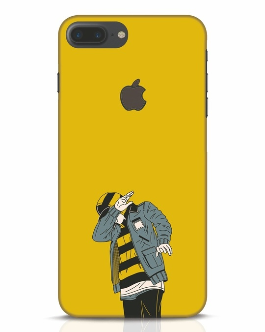 Shop Hip Hop Boy iPhone 7 Plus Logo Cut Mobile Cover-Front