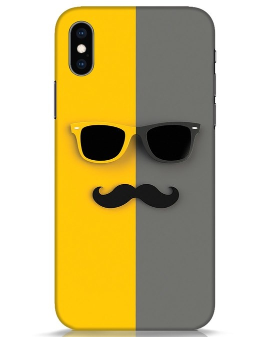 Shop Hipster iPhone XS Mobile Cover-Front