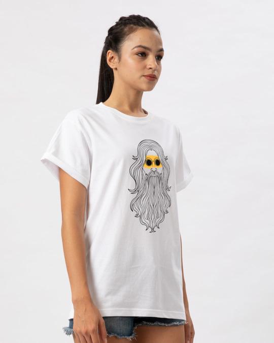 Shop Hipster Sadhu Boyfriend T-Shirt-Back