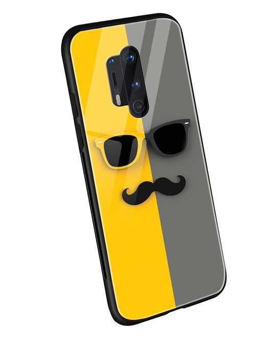 Shop Hipster Yellow OnePlus 8 Pro Mobile Cover-Back