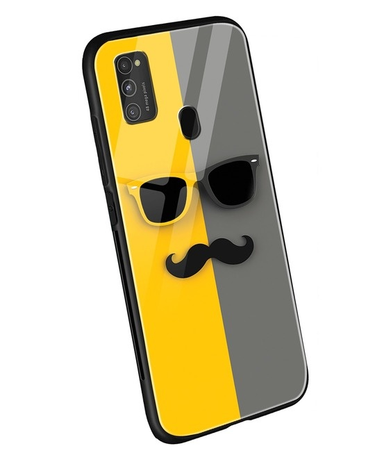 Shop Hipster Yellow Samsung Galaxy M21 Mobile Cover-Back