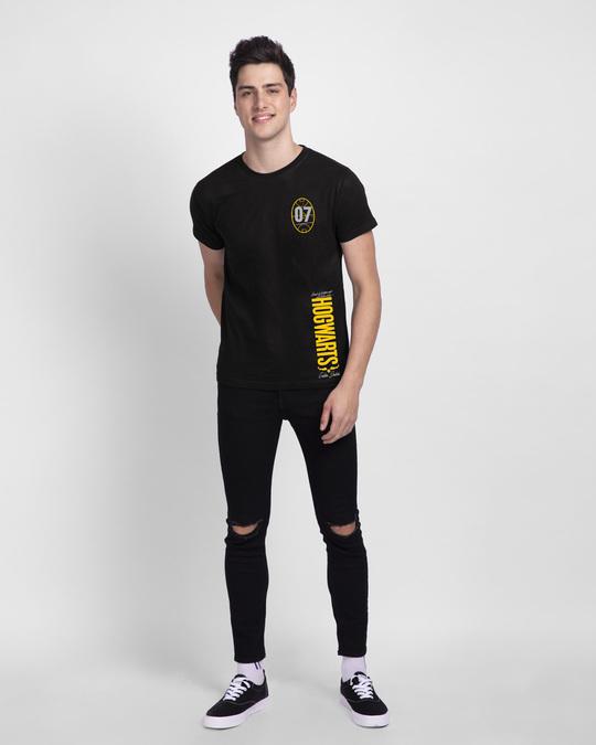 Shop Hogwarts 07 Half Sleeve T-Shirt Black (HPL)-Full
