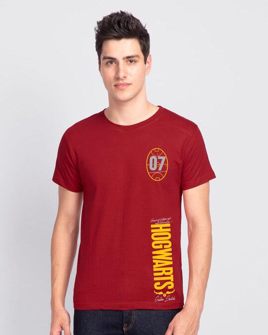 Shop Hogwarts 07 Half Sleeve T-Shirt Bold Red (HPL)-Back