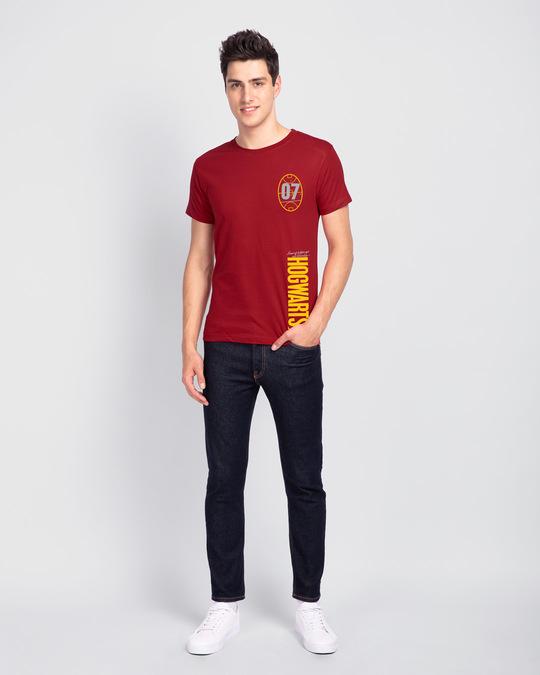 Shop Hogwarts 07 Half Sleeve T-Shirt Bold Red (HPL)-Design
