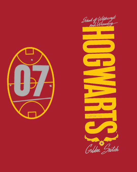 Shop Hogwarts 07 Half Sleeve T-Shirt Bold Red (HPL)-Full