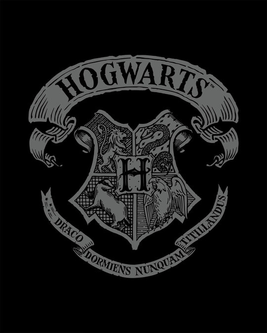 Shop Hogwarts Crest Full Sleeve T-Shirt (HPL)-Full