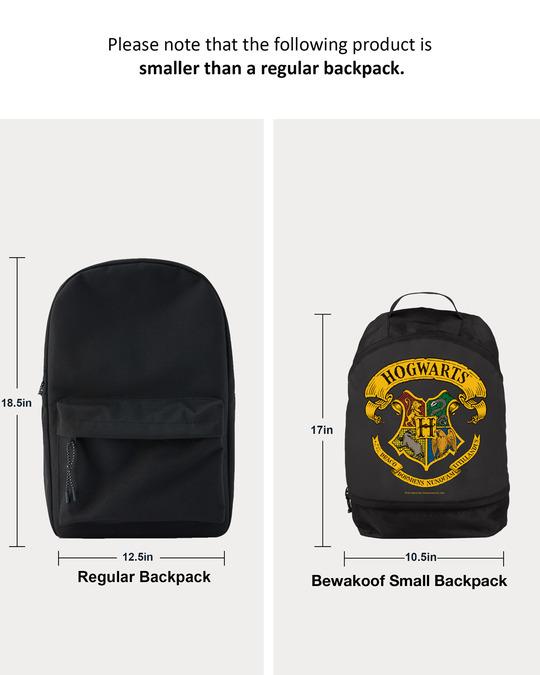 Shop Hogwarts Emblem  Printed Small Backpack (HP)-Full