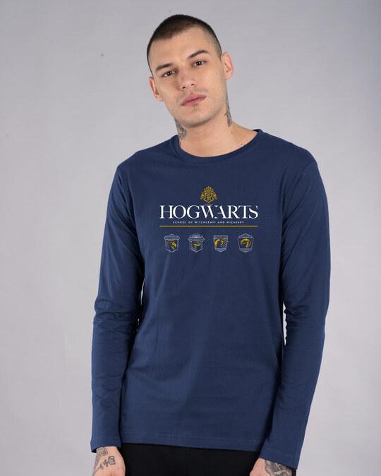 Shop Hogwarts School Full Sleeve T-Shirt (HPL)-Front