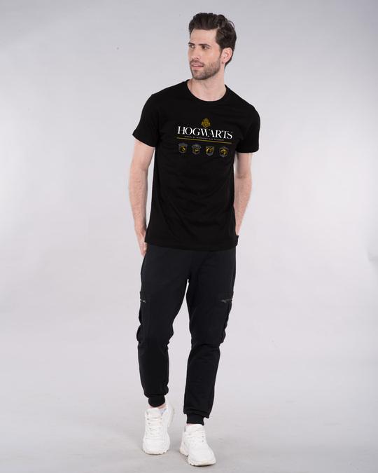 Shop Hogwarts School Half Sleeve T-Shirt (HPL)-Design