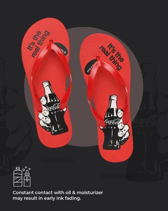 Shop Holding Coca-Cola Printed Women's Flip-flop