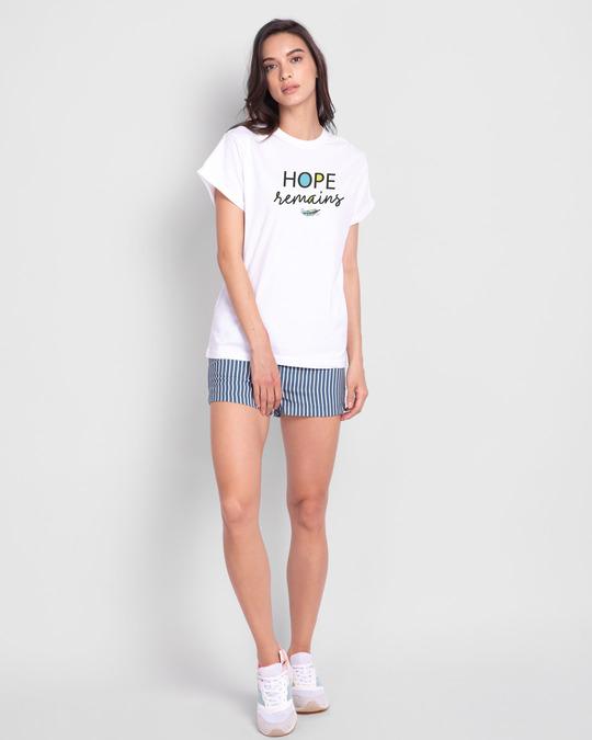 Shop Hope Feather Boyfriend T-Shirt White-Design
