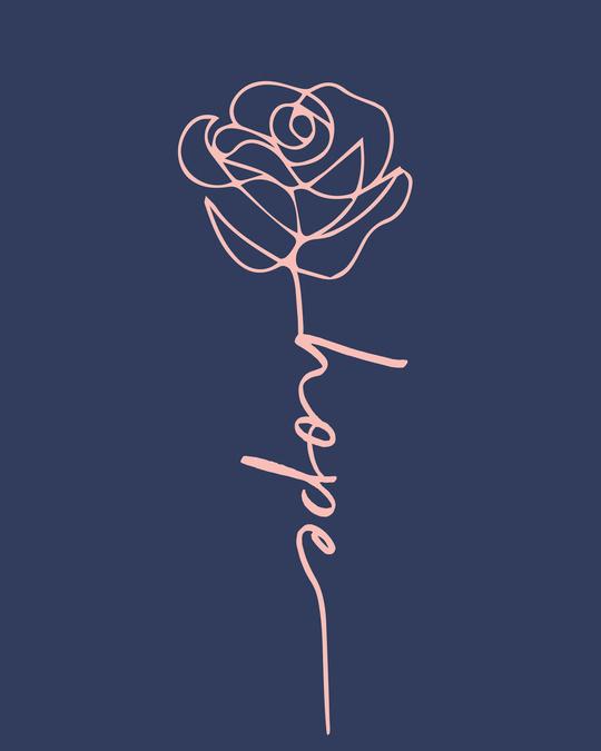 Shop Hope Flower Boyfriend T-Shirt-Full