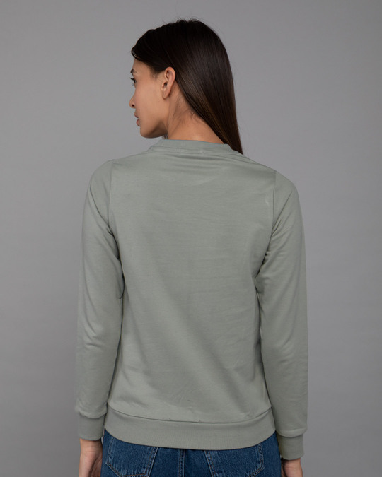 Shop Hope Flower Fleece Light Sweatshirt-Back