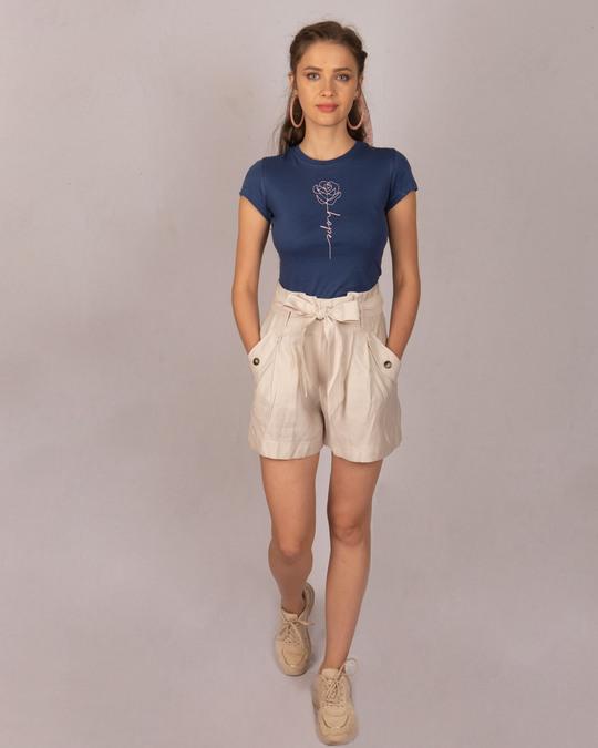 Shop Hope Flower Half Sleeve T-Shirt-Design
