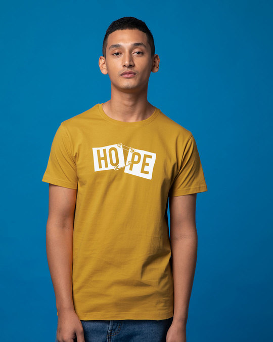 Shop Hope Pin Half Sleeve T-Shirt-Back