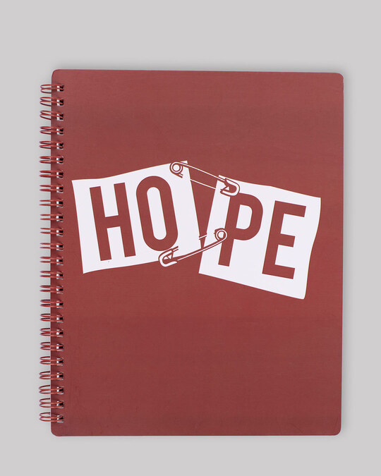 Shop Hope Pin Spiral Notebook-Front