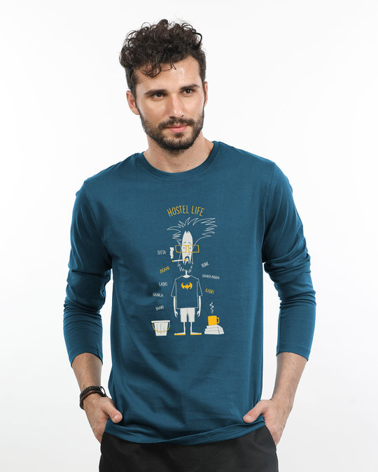 Shop Hostel Life Full Sleeve T-Shirt-Front