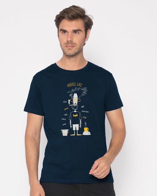 Shop Hostel Life Half Sleeve T-Shirt-Back