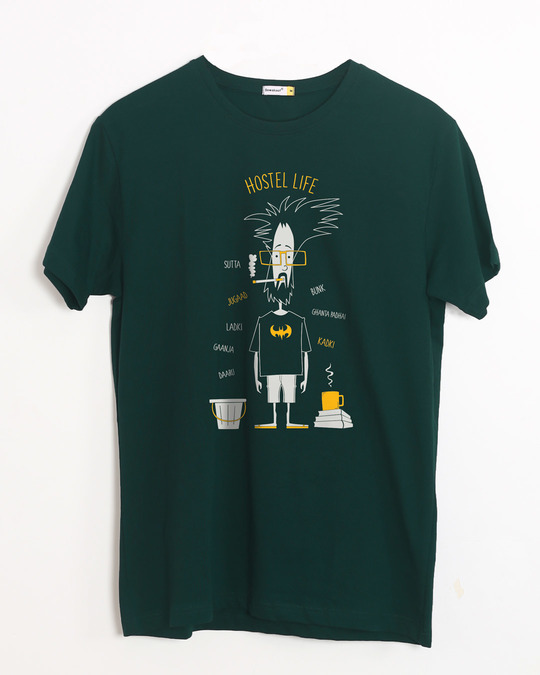 Shop Hostel Life Half Sleeve T-Shirt-Front