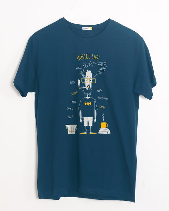 Shop Hostel Life Half Sleeve T-Shirt-Front
