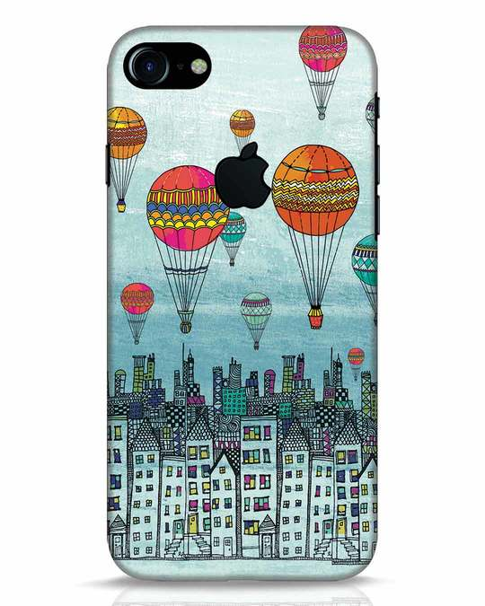 Shop Hot Air Balloon iPhone 7 Logo Cut Mobile Cover-Front