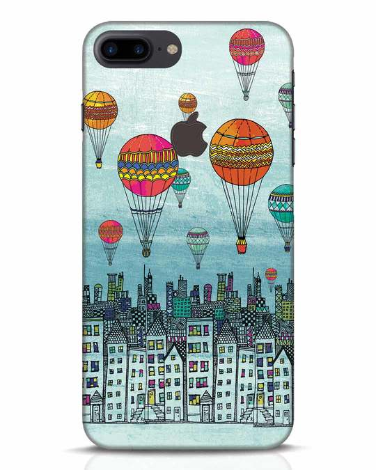 Shop Hot Air Balloon iPhone 7 Plus Logo Cut Mobile Cover-Front