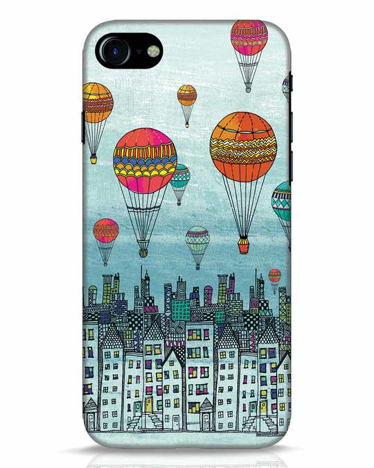 Shop Hot Air Balloon iPhone 8 Mobile Cover-Front