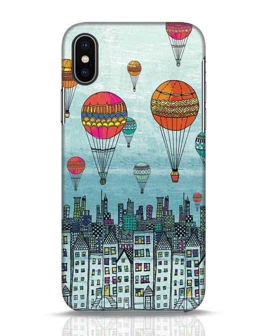 Shop Hot Air Balloon iPhone X Mobile Cover-Front