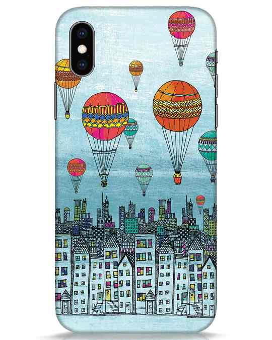 Shop Hot Air Balloon iPhone XS Mobile Cover-Front