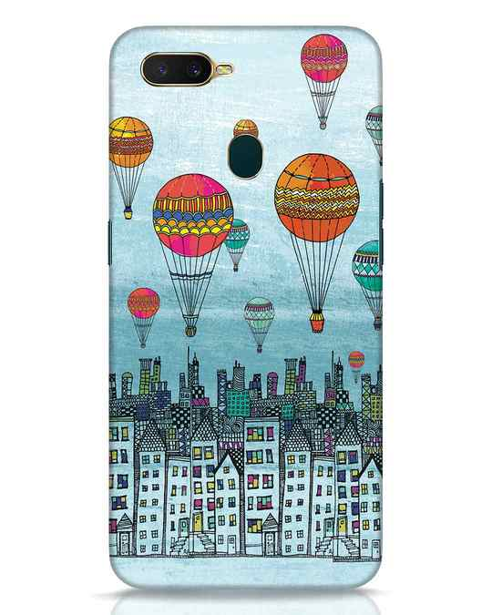 Shop Hot Air Balloon Oppo A7 Mobile Cover-Front