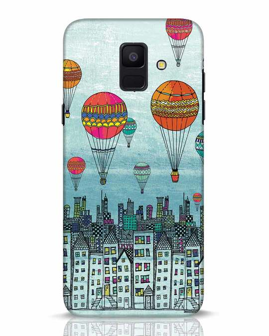 Shop Hot Air Balloon Samsung Galaxy A6 2018 Mobile Cover-Front