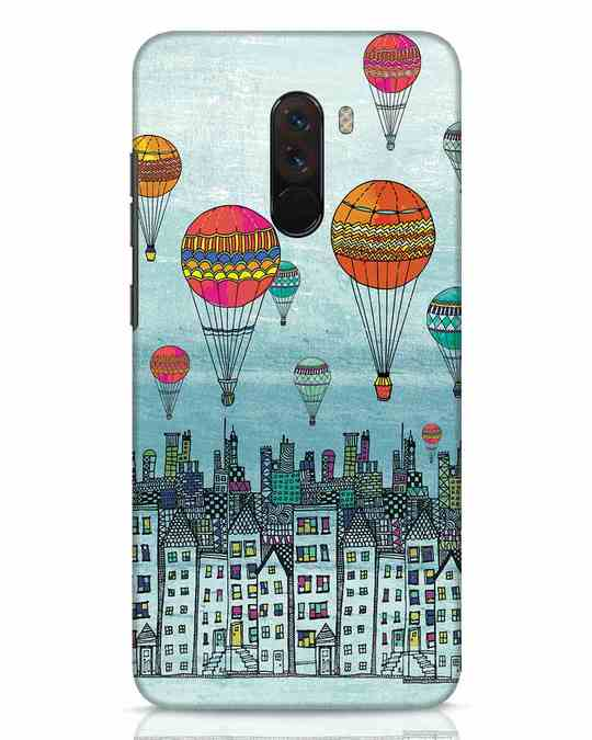 Shop Hot Air Balloon Xiaomi POCO F1 Mobile Cover-Front