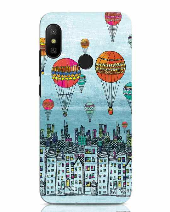 Shop Hot Air Balloon Xiaomi Redmi Note 6 Pro Mobile Cover-Front