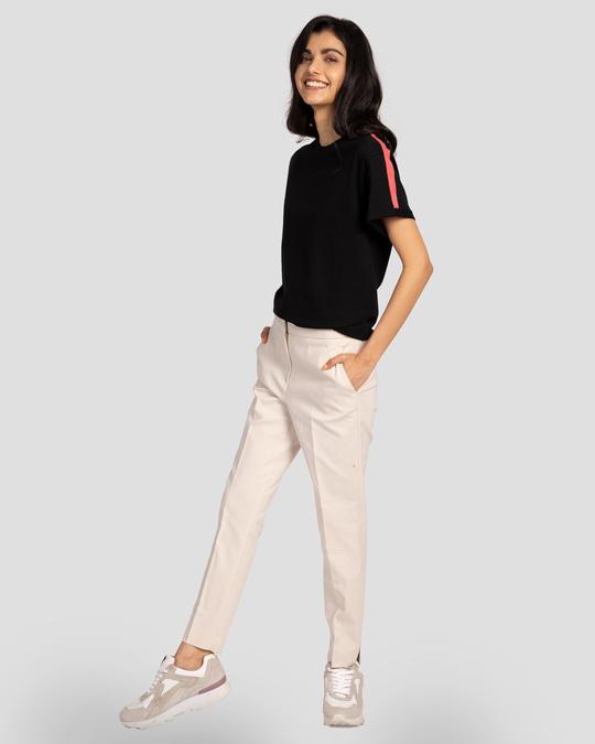 Shop Hot Pink Side Panel Boyfriend T-Shirt