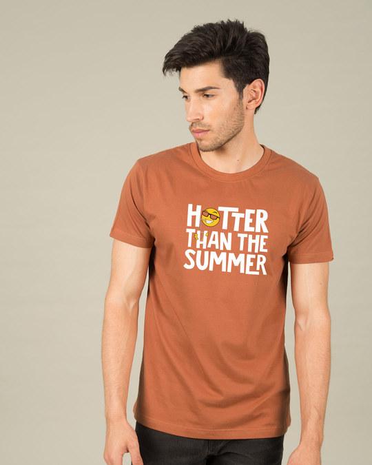 Shop Hotter Than The Summer Half Sleeve T-Shirt-Back