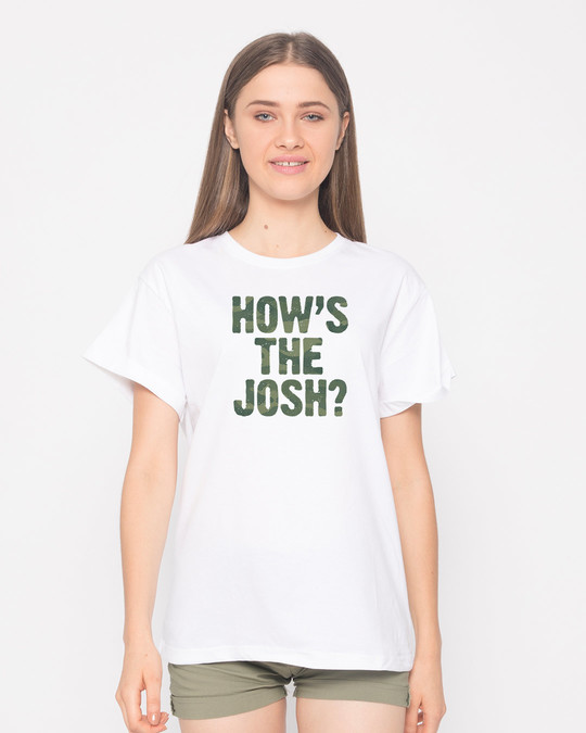 Shop How's The Josh Boyfriend T-Shirt-Front