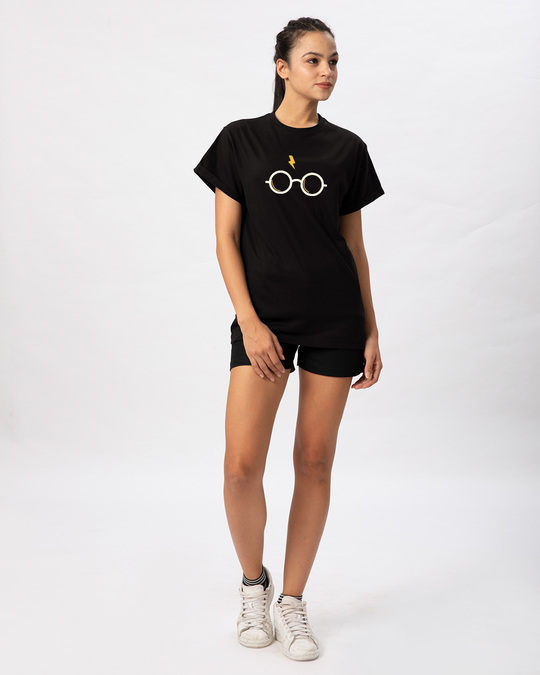 Shop Hp Glasses Boyfriend T-Shirt