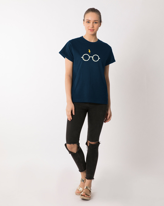 Shop Hp Glasses Boyfriend T-Shirt