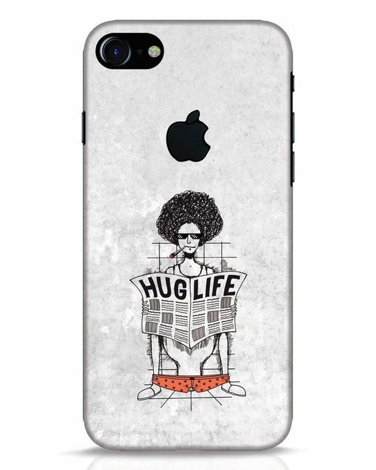 Shop Hug Life iPhone 7 Logo Cut Mobile Cover-Front