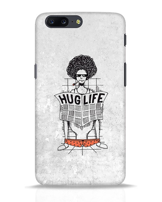 Shop Hug Life OnePlus 5 Mobile Cover-Front