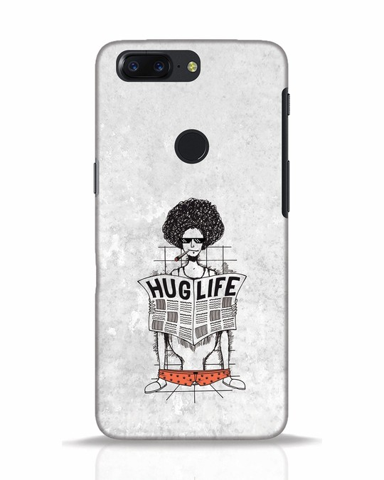 Shop Hug Life OnePlus 5T Mobile Cover-Front