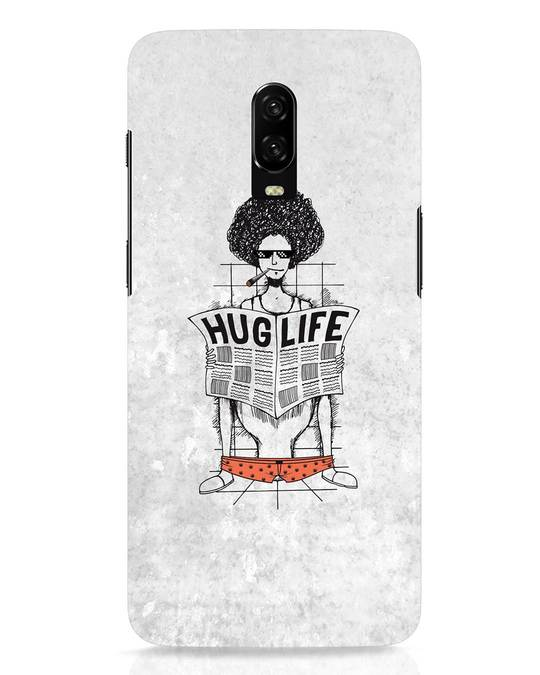 Shop Hug Life OnePlus 6T Mobile Cover-Front