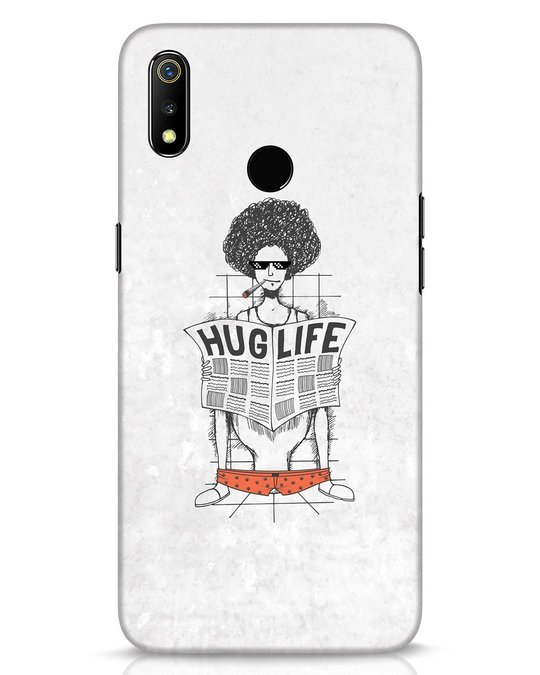 Shop Hug Life Realme 3 Mobile Cover-Front