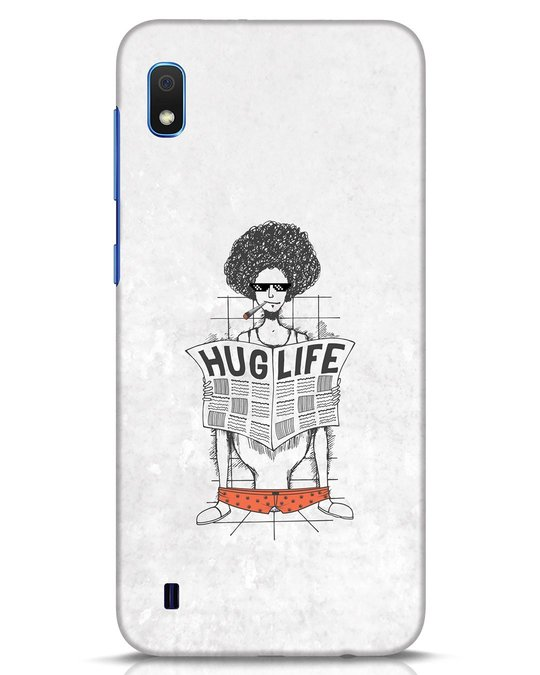 Shop Hug Life Samsung Galaxy A10 Mobile Cover-Front