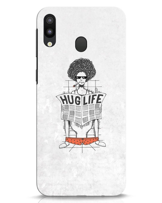 Shop Hug Life Samsung Galaxy M20 Mobile Cover-Front