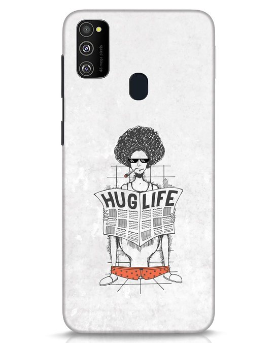 Shop Hug Life Samsung Galaxy M30s Mobile Cover-Front